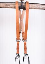 Medium Tan Bridle Leather MoneyMaker Luxury Multi Camera Strap by Hold Fast