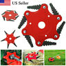 6 Steel Blades Razors Lawn Mower 65Mn Trimmer Head For Weed Eater Brush Cutter