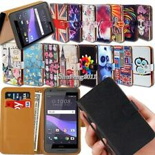 Leather Wallet Stand Magnetic Flip Case Cover For HTC Desire Mobile Phones