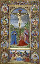 Illuminated Manuscripts: The Crucifixion by Giuliano Amadei: Fine Art Print