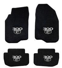 NEW! 2005-2010 Black Floor Mats Chrysler Embroidered 300 Hemi C Logo AWD - All 4