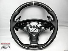 Mercedes SL63 CLS63 SLK63 AMG Silver Ring Perforated THICK CARBON Steering WHEEL