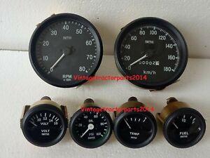 Smiths Replica Kit- Elec Temp + Oil + Fuel + Amp Gauge+Speedometer +Tacho 100 mm
