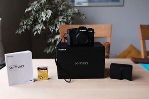 Fujifilm X-T20 24.3 MP Spiegellose Systemkamera - Schwarz (Nur Gehäuse)