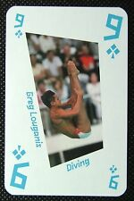 1 x playing card London 2012 Olympic Legends Greg Louganis Diving 9C