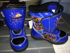 TONY HAWK Thermolite Insulated Waterproof Snow Boots NWT Boys Sizes 8 or 11 $60