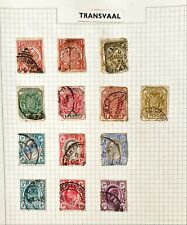 Collection Of  Transvaal Stamps On 1 Page