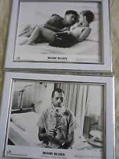 2 Original framed lobby cards Miami blues Adam baldwin Fred Ward Press photos