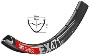 DT Swiss Ex 471 Bicycle Rim Black 559-25 (26″)