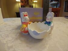 Easter bunny and egg candy dish