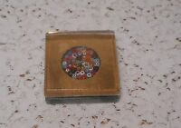 Vintage Collectible MURANO Art Glass Millefiori Paperweight