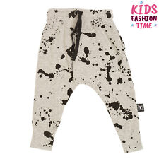 Nununu Baggy Trousers Size 12-18M Melange Paint Splatter Treated Drawstring