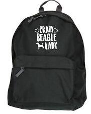 Crazy Beagle lady dog backpack ruck sack Size: 31x42x21cm
