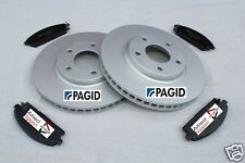 FITS  NISSAN ELGRAND E51 3.5i 2.5i FRONT DISC AND PAD SET FREE NEXT DAY DELIVERY