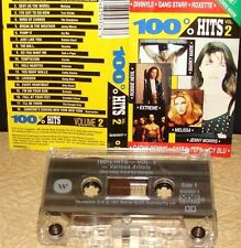 100% HITS - VOLUME 2   -ESCAPE CLUB,ICY BLU,EXTREME,MELISSA-       Cassette Tape