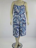 Crossroads Ladies Festival Crinkle Jumpsuit sizes 14 16 Colour Aruba Palm Print