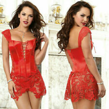 Sexy Woman Bone Corset Body with Embroidery and Lace Zipper Slimming Cincher