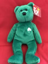 TY Beanie Babies ERIN BEAR, beautiful emerald green & brings good luck, mint!!!