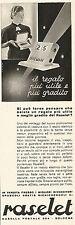 W2532 RASELET il regalo più utile e più gradito - Pubblicità 1938 - Old advert