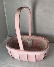 Floristry basket softwood trug floral arrangements pastel Pink gift basket