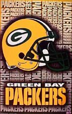 2001 Green Bay Packers Helmet Logo Original Starline Poster OOP