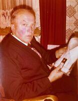 ZEPPELIN CAPT. HEINRICH BAUER AUTOGRAPHED COLOR PHOTO HINDENBURG SURVIVOR! 1978