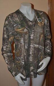 Gander Mountain Guide Series Women's Camo Cotton T-Shirt Long Sleeve Large NEW