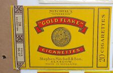 Old Vintage Holland Cigarette - Tobacco Packet Label. Golden Flake Cigarettes