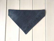 Handmade Upcycled Denim Over Collar Dog Bandana - size small available