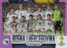 Panini PRIZM FIFA World Cup 2014 Team Photo Bosna I Hercegovina PURPLE Parallel