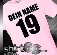 Kinder-Shirt im Trikot Style mit Wunschname und Wunschnummer EM WM WMki0001