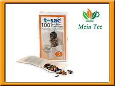 3x 100 Piece Teefilter t-sac 2 Paper Filter With Tab-Tea Strainer