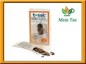 3x 100 Stück TEEFILTER T-sac 2   Papierfilter mit Lasche  - Teesieb
