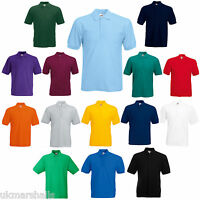 Fruit of the Loom Classic Plain Golf Polo Work Shirt T-Shirt
