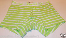 Hollister By Abercrombie Striped Lime Green White Boxers Shorts Briefs Medium