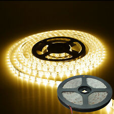 5 M STRISCIA STRIP 300 LED SMD 5050 BIANCO CALDO  ALTA LUMINOSITA'  WATERPROOF
