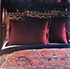 Nip-$150 Ralph Lauren Poet'S Society Burgundy Standard Pillow Sham 100% Wool