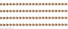 Solid COPPER BALL CHAIN 3.2mm bead ~ 3 continuous feet (3 ft) Nickel Free USA