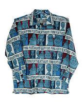 "NEW PLATINUM FUBU FAT ALBERT SHIRT SIZE ""2XLARGE"" BLUE"