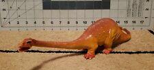 Retro Orange Diplodocus Dinosaur Plastic 14in Toy Sauropod