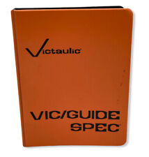 Vintage Victaulic Valve Fire Sprinkler Pipe Spec Guide Binder