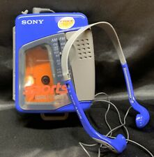 Rare Vintage Sony Sports Am/ Fm Stereo Cassette Walkman Wm-Fs399 With Mdr-W14
