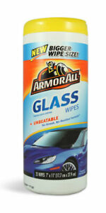 ArmorAll Glass Wipes for a Crystal Clear, Streak-Free Window Shine, 25 Wipes