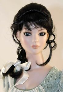 Black Wig with Braid and Bangs size 7-8 American Model Tonner - Amber