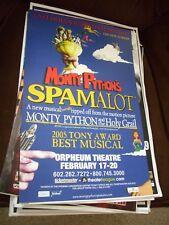 ORIGINAL MONTE PHYTHONS SPAMALOT  concert poster 11 x 17