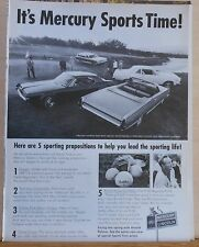 1967 magazine ad for Mercury - Five different models at Pebble Beach Golf Course