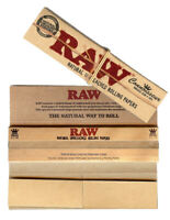 Genuine RAW Connoisseur Classic King Size Rolling Papers + Tips Filters Rizla