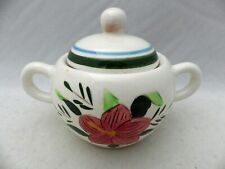 """Stangl Pottery - Country Garden Pattern - Sugar Bowl with Lid - 5 3/4"""" - EUC"""