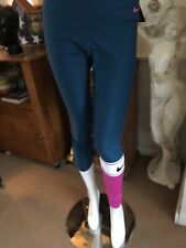 9a626963a3e6ab Womens * Nike Power Stretch Colorblock Leggings* Teal Purple L Large