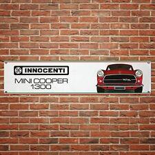 Mini Innocenti Banner Garage Workshop PVC Sign Trackside Display